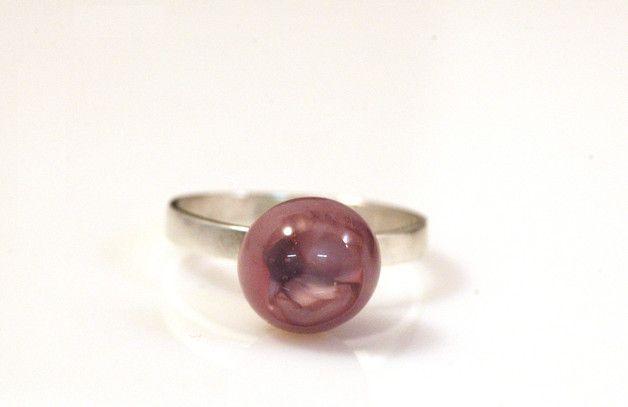 Zilveren ringen - Zilver ring met paarse diepte - Een uniek product van KCreative op DaWanda