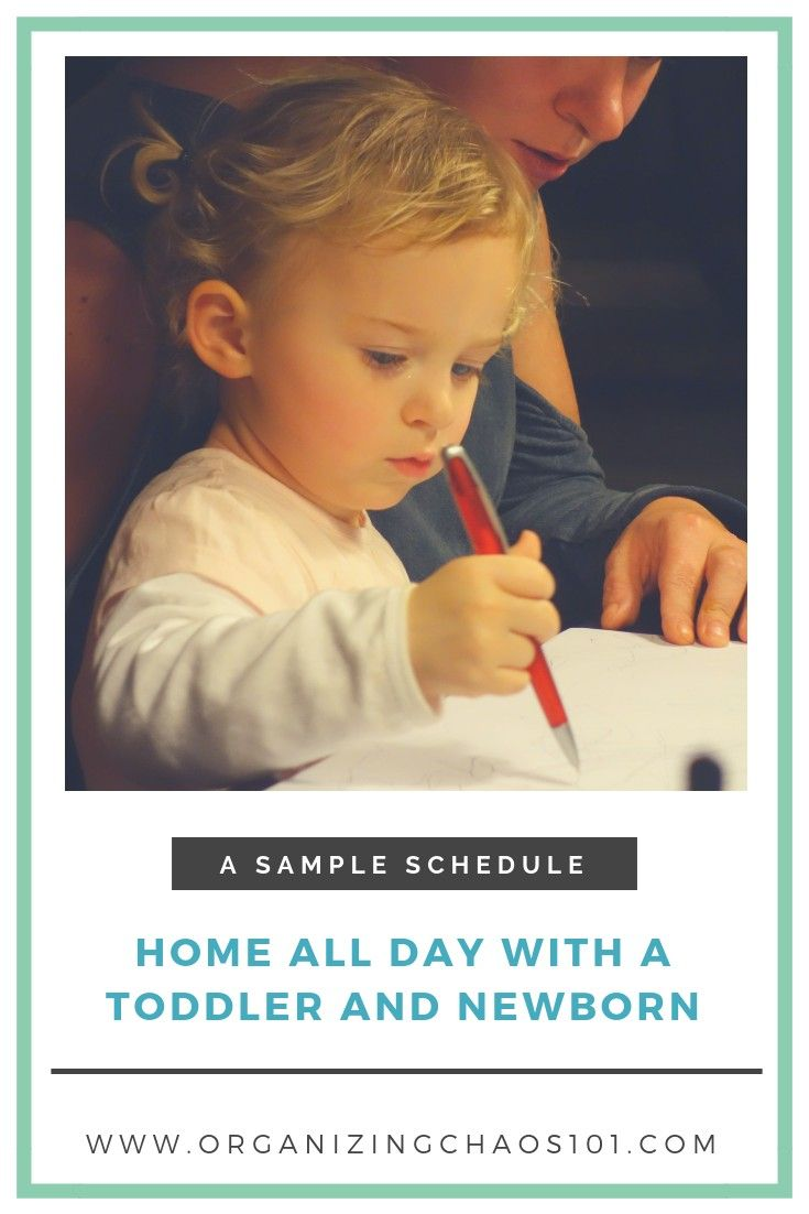 A Sample Schedule For Staying Home All Day With A Toddler And Newborn Toddler New Parents Parenting Hacks