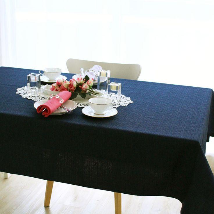 撥水加工 無地テーブルクロス グレース ネイビー | テーブルクロス | | テーブルクロスの専門店 ルームレシピ