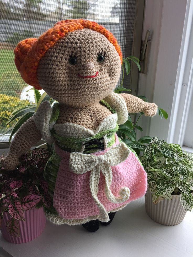 Miss Resi ( Miss Hook Design )  Handmade by me .  After are pattern from Misshook.de .  Handmade . Smoke free Home. Miss Resi the sweet Country Girl . Nice Gift for anyone's Child Age 5+ Very lovely and one of are kind Doll. I us Safety Eyes ...