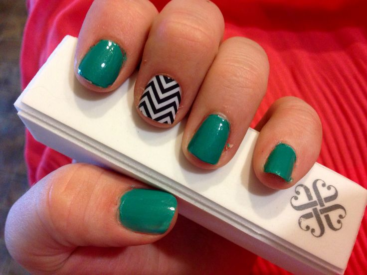 Loving my new JAMBERRY NAILS!! Chevron accents with naughty nautical by Essie. Let me know if anyone is interested in having a party and hosting a jamberry event! Tons of discounts and cute products!!