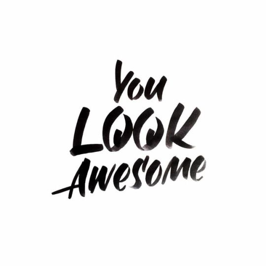 You look awesome handlettering thecrazypen