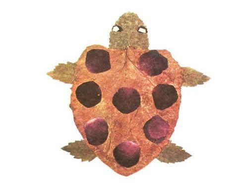 Come creare una tartaruga con le foglie autunnali