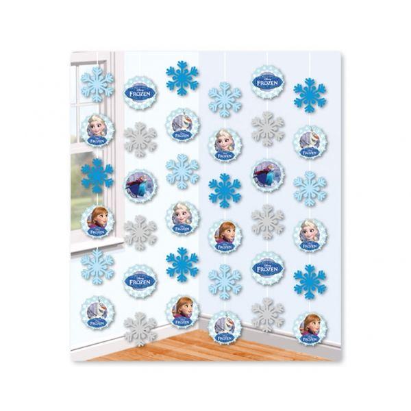 Frozen závěsná dekorace 6ks 1,5m | BALONKY .CZ