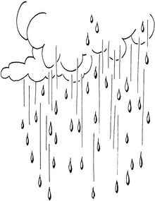 Raindrops Coloring Pages
