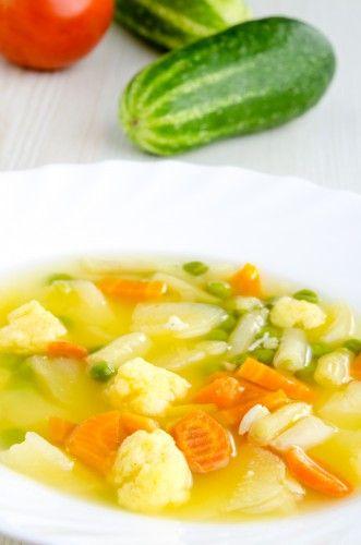 Постный суп из цветной капусты и картофеля