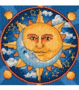 Dimensions Jiffy Sun And Moon Mini Ndlept Kit: needle point: cross stitch: yarn & cross stitch: Shop   Joann.com