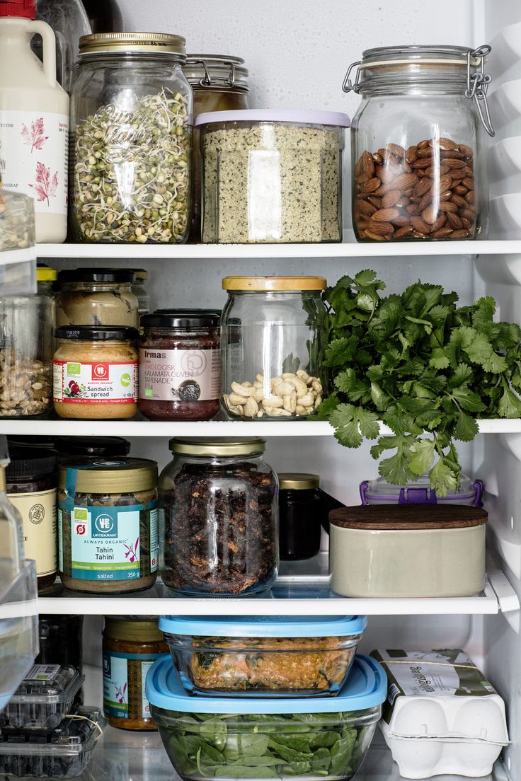 """Recipe Guru Sarah Britton Talks Healthy Eating and Lifestyle: """"In the winter it's usually kale or a dark cabbage. I have baby spinach in the tupperware at the bottom. Huge tip: as soon as you get your greens home from the store, wash them, spin them dry, and keep them in a tupperware—preferably glass—where you will always have them fresh and ready, because otherwise, you always have an excuse not to eat greens. I have a cruciferous vegetable—broccoli and brussel sprout. 