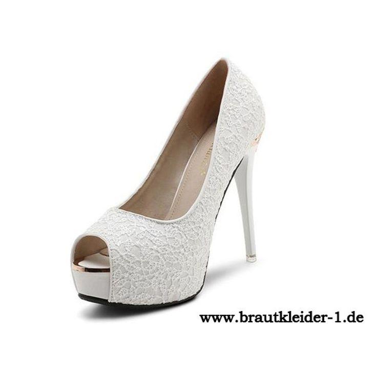 Weiße Schuhe Damen Pumps fuer den Standesamt