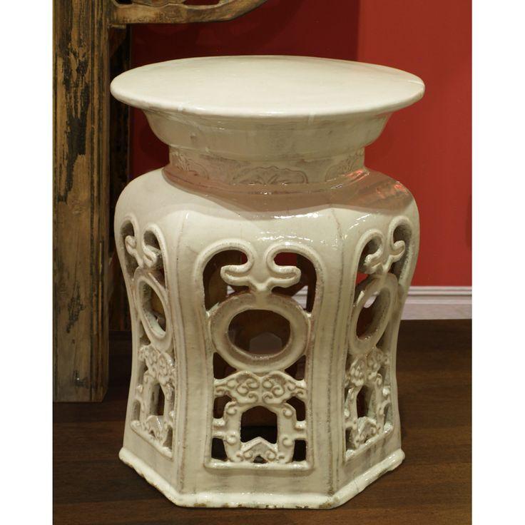 White Porcelain Temple Garden Stool  sc 1 st  Pinterest & 46 best Garden Stools images on Pinterest | Garden stools Zen ... islam-shia.org