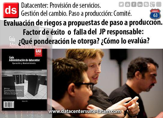 Datacentersuite, Datacenter Factor de éxito o falla del JP responsable: ¿ Que ponderación le otorga?
