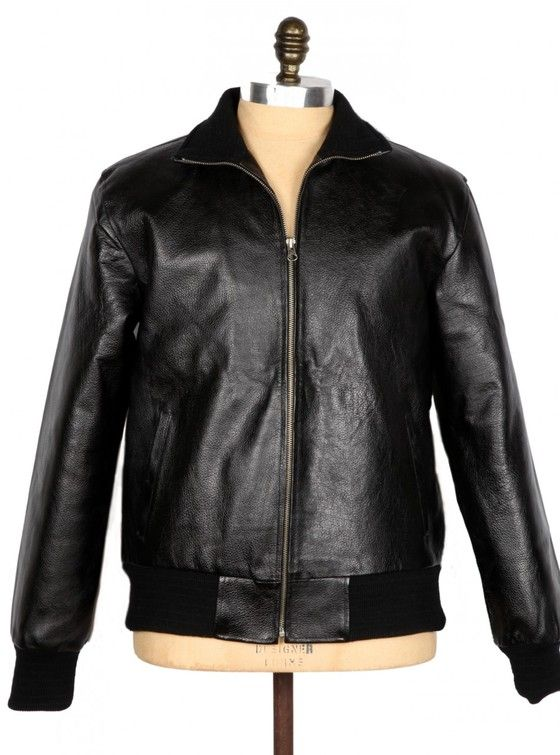THE BOMBER MK 2 – Genuine leather jacket. Bomber Jacket with distressed full-grain leather