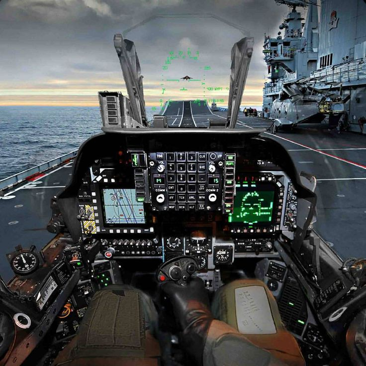 """1,098 Likes, 6 Comments - Military planes and choppers. (@instawarplanes) on Instagram: """"Pilot's view of the cockpit of a British Aerospace Harrier II of Royal Navy ready to take off from…"""""""