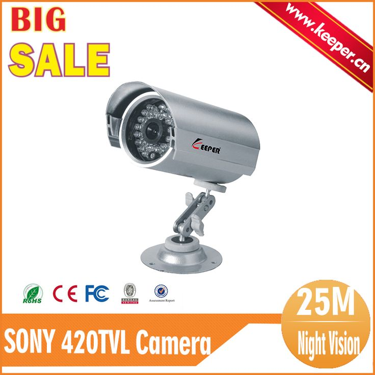 KEEPRR Hot Sale SONY CCD 420TVL Outoor Security CCTV Camera 30 IR LED Home Video Surveillance Night Vision Camera Free Bracket #women, #men, #hats, #watches, #belts, #fashion