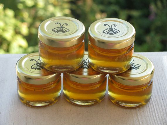 Box of 25 - 1 oz Honey Favors for Weddings, Bridal Showers, Baby Showers, Birthdays, Tea Parties