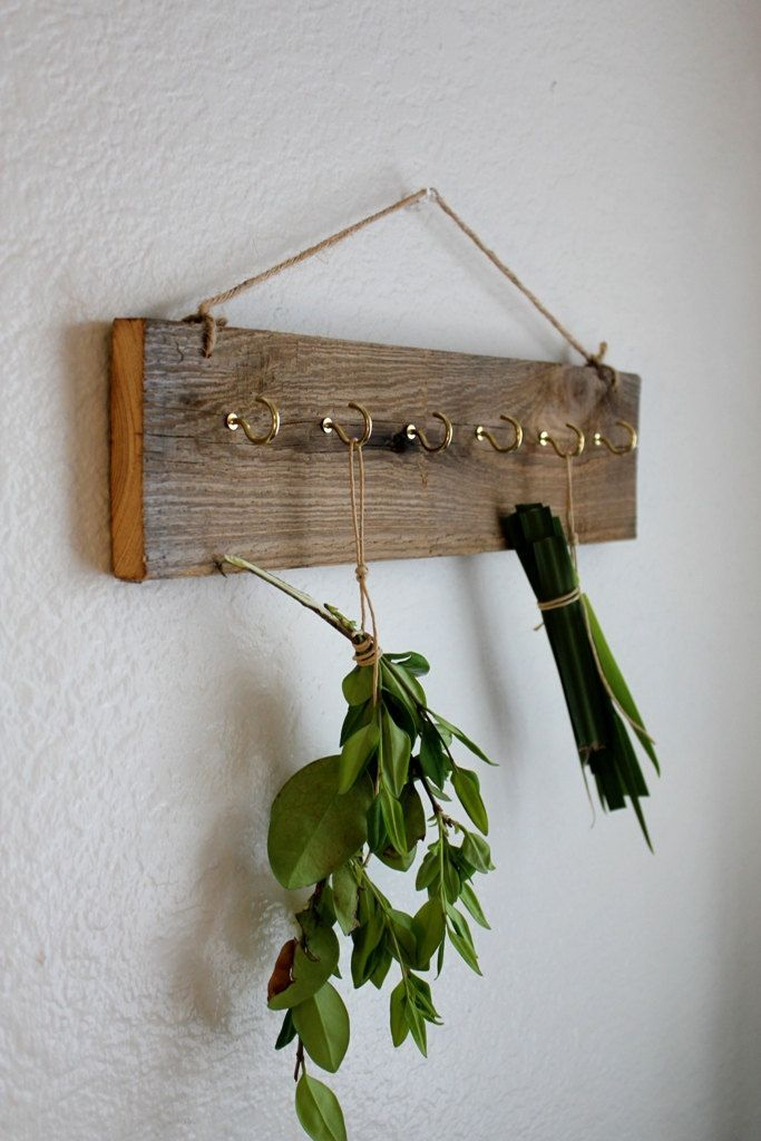 herb drying rack eco friendly barnwood dried herb rack wall key rack 35 00 via etsy herb drying racks drying herbs herb rack pinterest