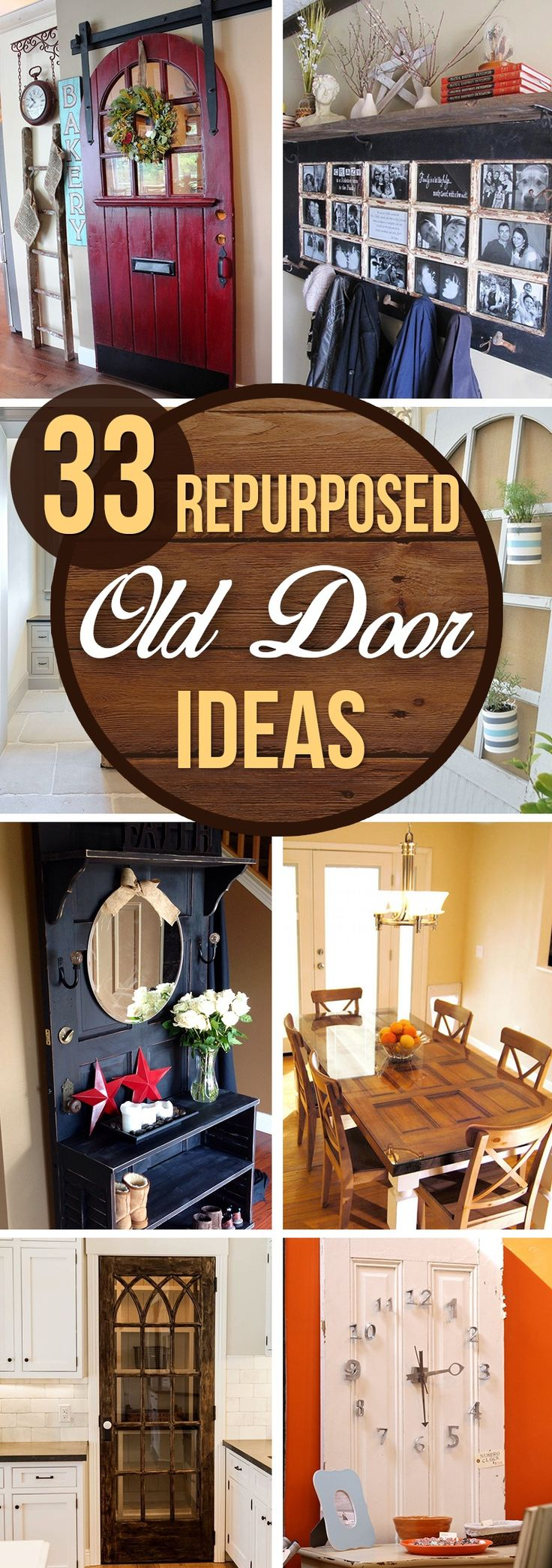 Whether you want to salvage an adorable arched entry door fit for an elf's cottage or an elaborately carved architectural panel door fit for a king's dressing room, there are many great repurposed old door ideas to be found. Detached doors abound because the craftsmanship of yesteryear produced ...