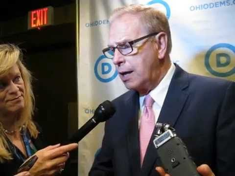 Press Gaggle: Ted Strickland fields reporters questions