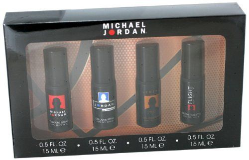 Michael Jordan Variety Men Gift Set (Michael Jordan Cologne, Jordan Cologne, Legend Cologne, Flight Cologne) by Michael Jordan. $20.54. All our fragrances are 100% originals by their original designers. We do not sell any knockoffs or immitations.. Michael Jordan Cologne for Men 4 Pc. Gift Set ( Michael Jordan , Jordan, Legend, Flight 4 X 0.5 Oz Each ). Packaging for this product may vary from that shown in the image above. We offer many great sales and discounts making this fr...