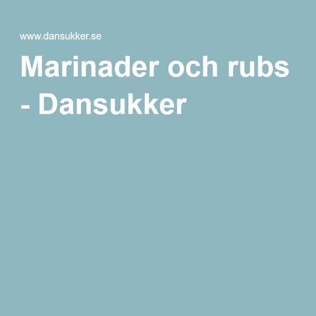 Marinader och rubs - Dansukker