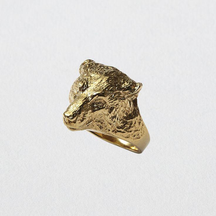LENAKLAX http://lenaklax.bigcartel.com/product/pre-order-polar-bear-ring-yellow-gold-24-carats