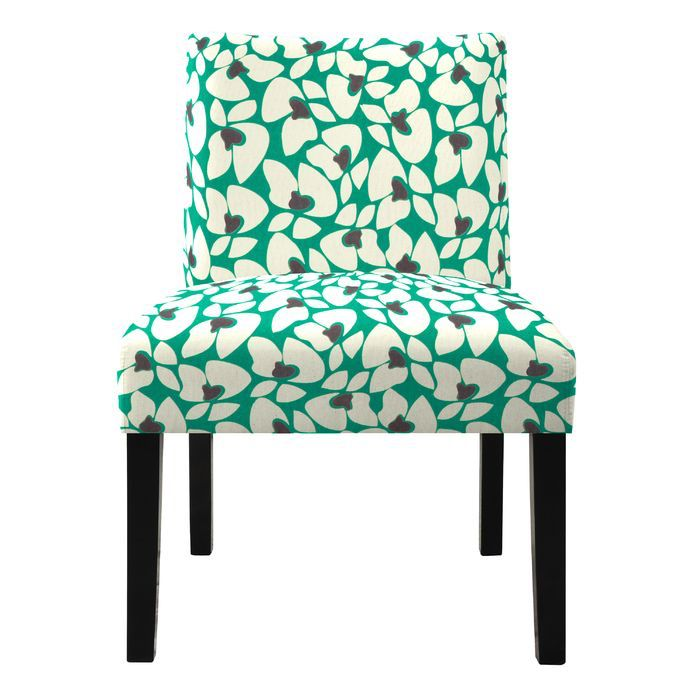 Nate Floral Slipper Chair