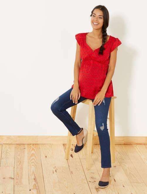 e8e826c16b47 Jeans premaman slim fit BLU Premaman - Kiabi