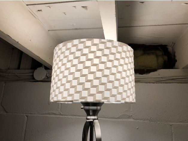 Cubic Lampshade By Flamingprints Thingiverse 3d Printer Printer Lamp