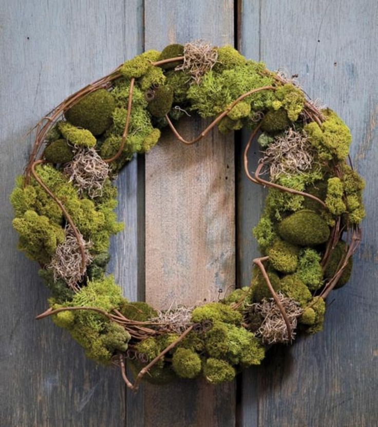 Moss Wreath at Joann.com--what a pretty project!  This would be nice on my door for spring!