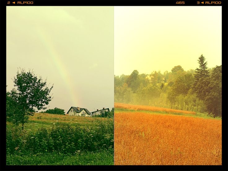 Rainbows and fog - the Nature's wonders :) http://twistedredladybug.blogspot.com/2014/08/little-house-on-prairie-wedding-thank.html