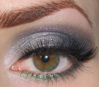 Green and Gray Eye Makeup Look with Aromaleigh