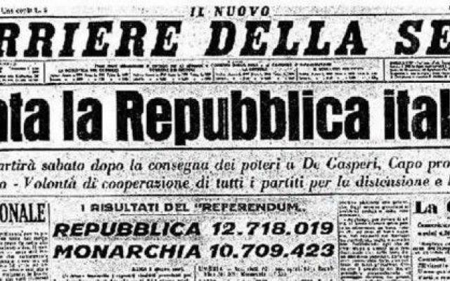 Festa della Repubblica italiana Ogni anno il 2 Giugno si celebra la festa della Repubblica italiana. E' stata scelto questo giorno in concomitanza del 2 Giugno del 1946 quando fu indetto un referendum che invitava gli italiani a sc #italia #2giugno