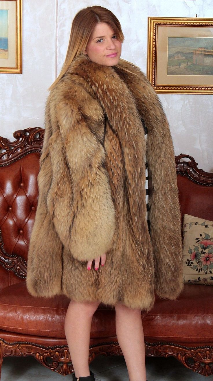 Raccoon Fur Coat Fuchs Pelz Mantel Fourrure Renard ...