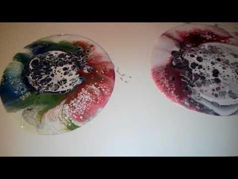 El arte en la pintura.. POURING+pintura metalizada - YouTube