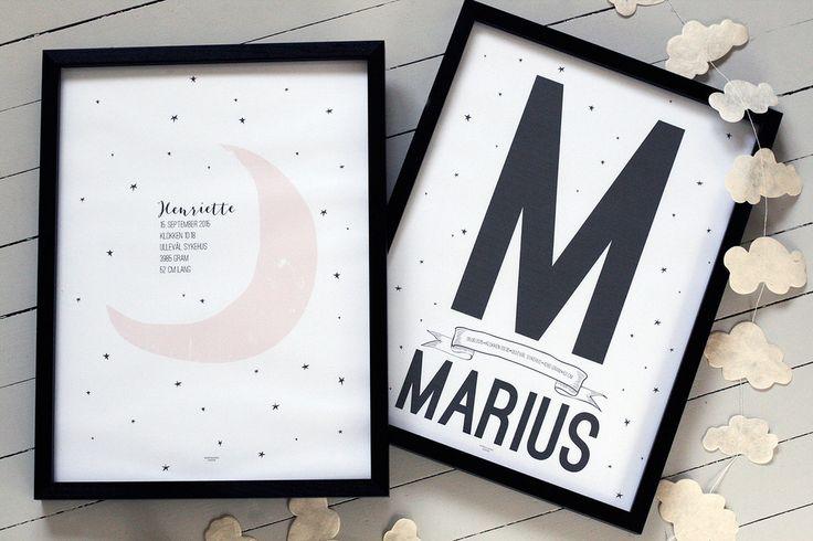 NYHET! Nye fødselsplakater i nettbutikken! www.wendelborgdesign.no