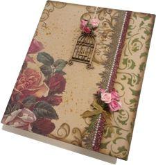 Caixa Livro – decoupage com textura - Marisa Magalhães