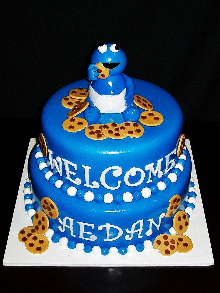 Beautiful Cookie Monster Baby Shower Cakeyouhappy.com