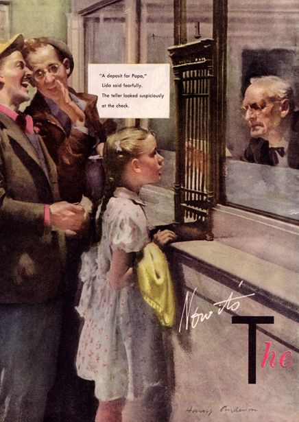 First Bank Account ~ Harry Anderson 1906-1996
