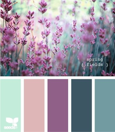 Lavender colour palette - the purples and blueish greens look really nice together. (Not too sure why it says that this is a recipe though xD)