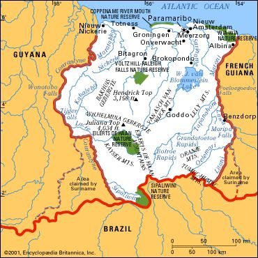 SURINAME | A nation in South America, population approx 560,000, its predominant religion today is Christianity.