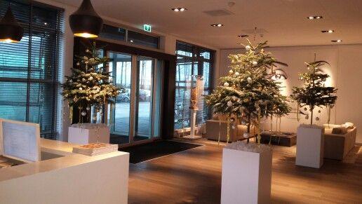 Kerstboom op pilaar