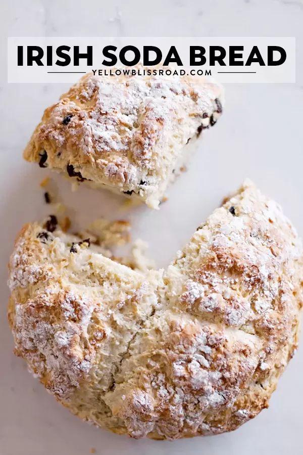 Le grand pain au soda irlandais moelleux est une recette de pain sans pétrir et sans lever. Facile à faire …   – Fab food ideas