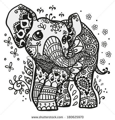 43 best Mandala coloring pages images on Pinterest Coloring pages - best of complex elephant coloring pages