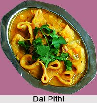 Dal Pithi is a dish from Bihari cuisine which is made with wheat flour dumplings. For the recipe visit the page. #bihar #food #recipes