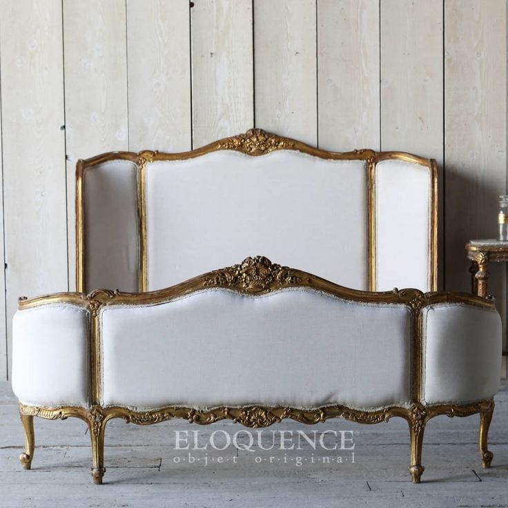 French Gold Gilt Vintage Bed $2,636.00 #thebellacottage #shabbychic #SALE