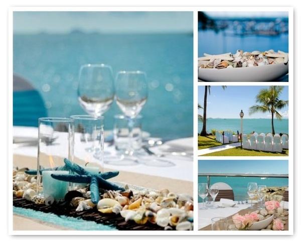 Beach wedding. #wedding: Tables Sets, Dreams, Wedding Ideas, Beaches Theme, Beaches Inspiration, Wedding Blue, Destinations Wedding, Beaches Wedding, Beaches Centerpieces