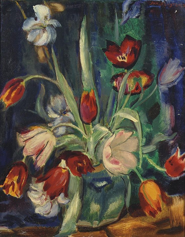 .Jan Sluijters (Dutch, 1881-1957) - Still life with tulips.               t