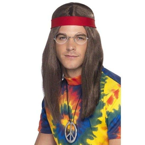 Specs Christmas Eve Hours 2020 Hippy Man Kit Hippy Man Kit Brown Wig Specs Peace Sign Medallion