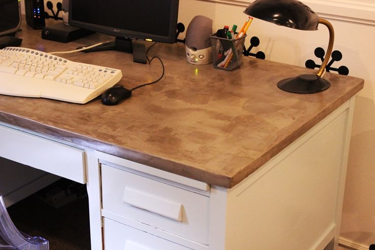 DIY Concrete Desktop