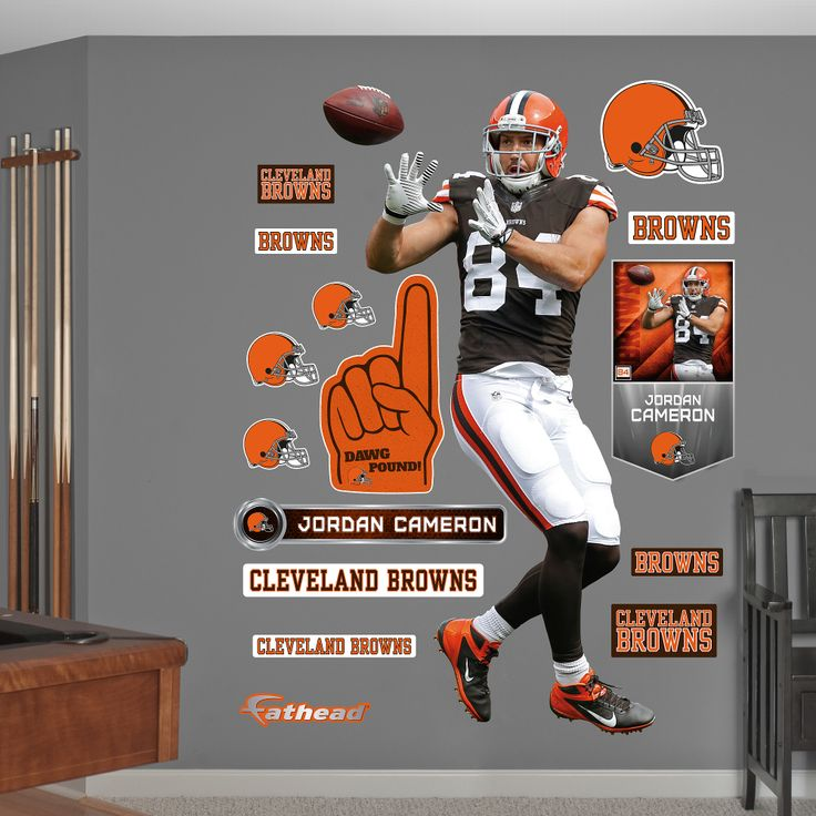 Cleveland Browns FATHEAD Team Sign Logo Official NFL Vinyl Wall Graphic FATHEAD Jamie Collins Cleveland Browns Mini Graphic Official NFL Vinyl Wall Graphic 7